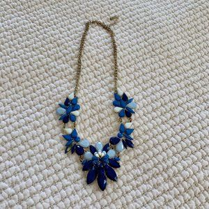 Costume Statement necklace Forever 21 gold & blue